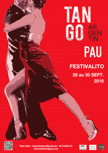 Affiche festivalito tango pau 2018