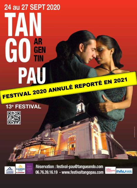 13e FESTIVAL de Tango Argentin - Pau Couleur Tango - Reporté en 2021
